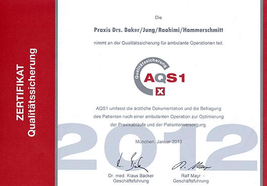 Zertifikat Qualitätssicherung