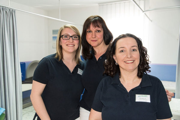 Team Ramstein Frau Kolesow, Frau Jefferson, Frau Junker Shields